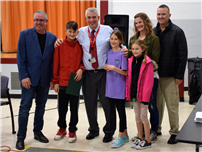 JFK Fifth Grader Wins Knights of Columbus Hoops Contest