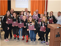 Board of Ed Recognizes County Champion Bowlers