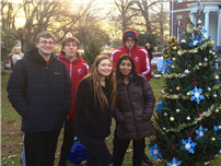 Interact Club Decorates Donated Tree at Brookwood Hall